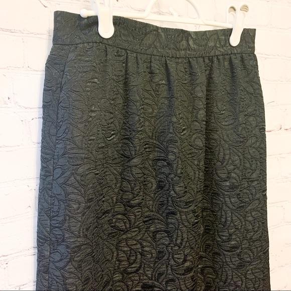 Vintage Black Patterned Skirt - Lady Manhattan